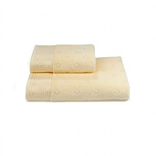Полотенце для ванной Soft Cotton VERA хлопковая махра жёлтый 50х100