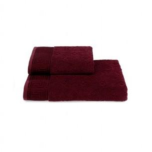 Полотенце для ванной Soft Cotton VERA хлопковая махра бордовый 50х100