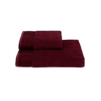 Полотенце для ванной Soft Cotton VERA хлопковая махра бордовый 75*150