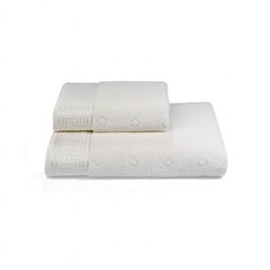 Полотенце для ванной Soft Cotton VERA хлопковая махра кремовый 75х150