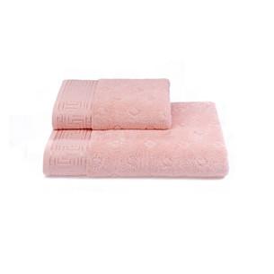 Полотенце для ванной Soft Cotton VERA хлопковая махра розовый 50х100