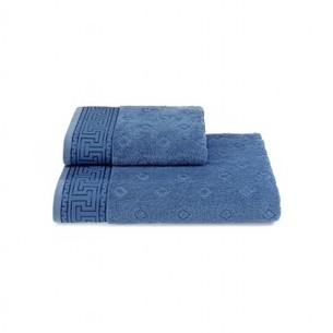 Полотенце для ванной Soft Cotton VERA хлопковая махра голубой 50х100