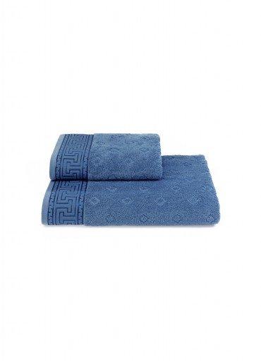 Полотенце для ванной Soft Cotton VERA хлопковая махра (голубой) 75*150, фото, фотография