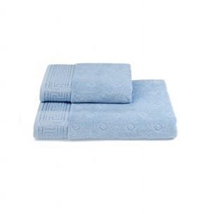 Полотенце для ванной Soft Cotton VERA хлопковая махра светло-голубой 50х100