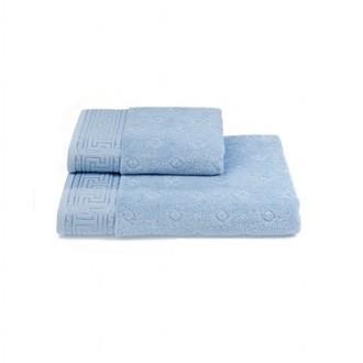 Полотенце для ванной Soft Cotton VERA хлопковая махра светло-голубой