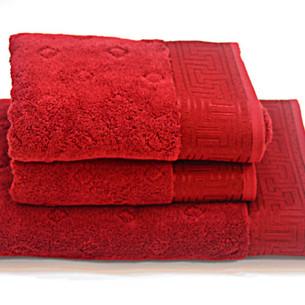 Полотенце для ванной Soft Cotton VERA хлопковая махра красный 50х100