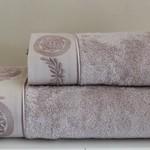 Полотенце для ванной Soft Cotton QUEEN хлопковая махра лиловый 50х100, фото, фотография