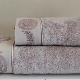 Полотенце для ванной Soft Cotton QUEEN хлопковая махра лиловый 50х100