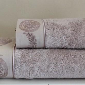 Полотенце для ванной Soft Cotton QUEEN хлопковая махра лиловый 85х150