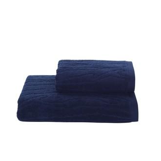 Полотенце для ванной Soft Cotton SORTIE хлопковая махра (тёмно-синий)