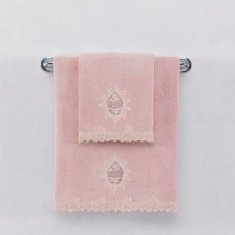 Полотенце для ванной Soft Cotton DESTAN хлопковая махра (тёмно-розовый)