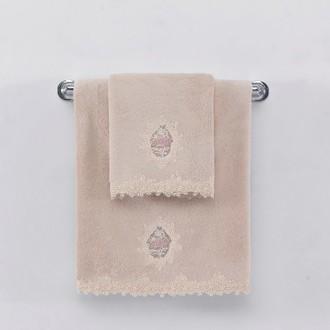 Полотенце для ванной Soft Cotton DESTAN хлопковая махра (пудра)