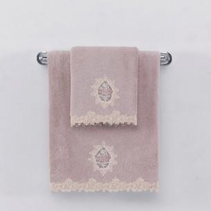 Полотенце для ванной Soft Cotton DESTAN хлопковая махра лиловый 50х100