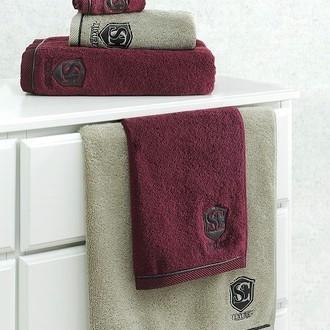 Полотенце для ванной Soft Cotton LUXURE хлопковая махра (бордовый)