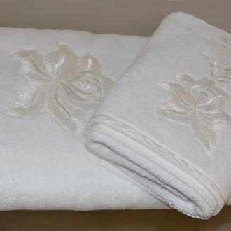 Полотенце для ванной Soft Cotton PANDORA хлопковая махра (кремовый)