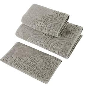 Полотенце для ванной Soft Cotton CIRCLE хлопковая махра коричневый 50х100