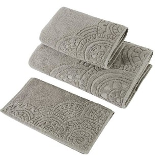 Набор полотенец для ванной в подарочной упаковке 30х50 3 шт. Soft Cotton CIRCLE хлопковая махра коричневый