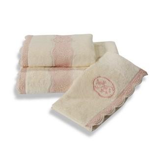 Полотенце для ванной Soft Cotton BUKET хлопковая махра (кремовый)