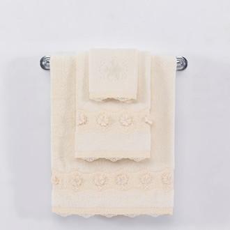 Полотенце для ванной Soft Cotton YONCA хлопковая махра (кремовый)