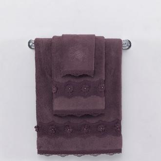 Полотенце для ванной Soft Cotton YONCA хлопковая махра (фиолетовый)