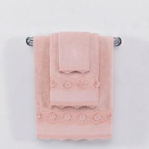 Полотенце для ванной Soft Cotton YONCA хлопковая махра тёмно-розовый 50х100