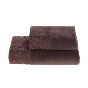 Полотенце для ванной Soft Cotton ELIZA хлопковая махра фиолетовый 50х100