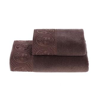 Полотенце для ванной Soft Cotton ELIZA хлопковая махра фиолетовый