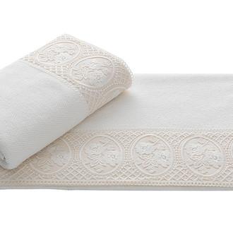 Полотенце для ванной Soft Cotton ELIZA хлопковая махра (экрю)