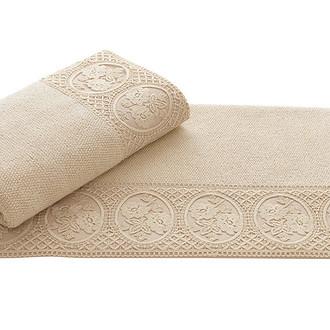 Полотенце для ванной Soft Cotton ELIZA хлопковая махра (бежевый)