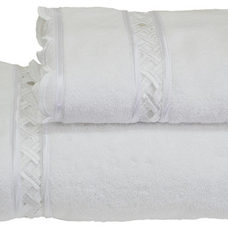Полотенце для ванной Soft Cotton DIVA DANTELLI хлопковая махра белый