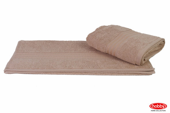 Полотенце для ванной Hobby Home Collection RAINBOW хлопковая махра (бежевый) 30*50, фото, фотография