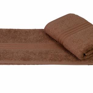 Полотенце для ванной Hobby Home Collection RAINBOW хлопковая махра коричневый 70х140