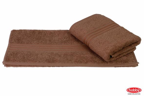 Полотенце для ванной Hobby Home Collection RAINBOW хлопковая махра (коричневый) 70*140, фото, фотография