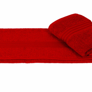 Полотенце для ванной Hobby Home Collection RAINBOW хлопковая махра красный 30х50