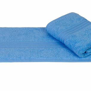 Полотенце для ванной Hobby Home Collection RAINBOW хлопковая махра светло-голубой 70х140
