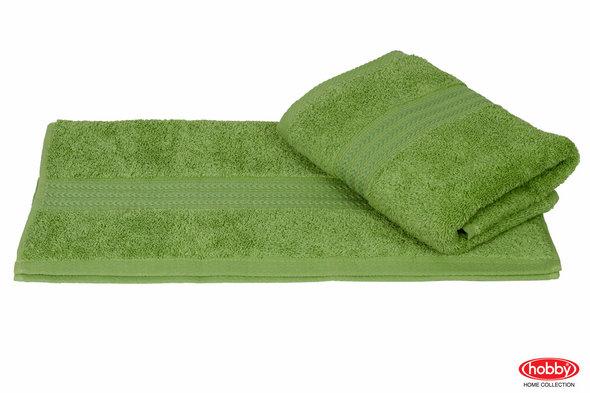 Полотенце для ванной Hobby Home Collection RAINBOW хлопковая махра (оливковый) 50*90, фото, фотография