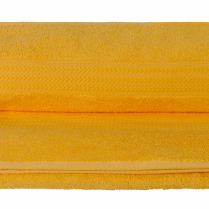Полотенце для ванной Hobby Home Collection RAINBOW хлопковая махра тёмно-жёлтый 50х90