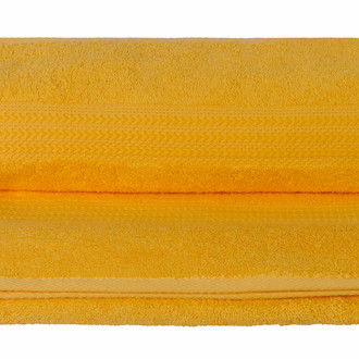 Полотенце для ванной Hobby Home Collection RAINBOW хлопковая махра тёмно-жёлтый 30*50