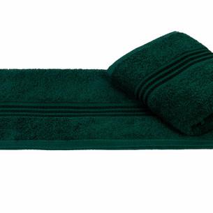 Полотенце для ванной Hobby Home Collection RAINBOW хлопковая махра тёмно-зелёный 50х90