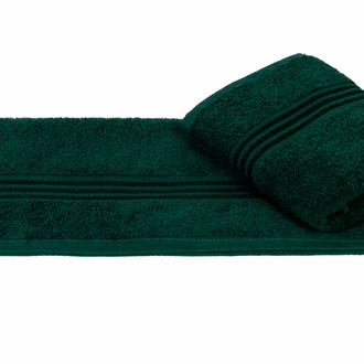 Полотенце для ванной Hobby Home Collection RAINBOW хлопковая махра (тёмно-зелёный)
