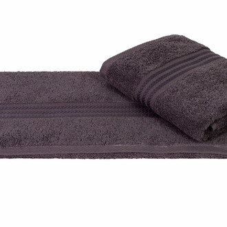 Полотенце для ванной Hobby Home Collection RAINBOW хлопковая махра тёмно-серый