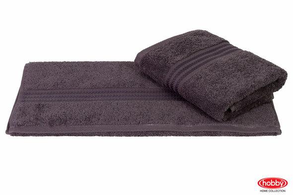 Полотенце для ванной Hobby Home Collection RAINBOW хлопковая махра (тёмно-серый) 50*90, фото, фотография