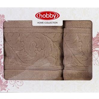 Набор полотенец для ванной в подарочной упаковке 50х90, 70х140 Hobby Home Collection SULTAN хлопковая махра бежевый
