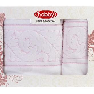 Набор полотенец для ванной в подарочной упаковке 50х90, 70х140 Hobby Home Collection SULTAN хлопковая махра белый