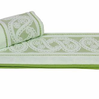 Полотенце для ванной Hobby Home Collection HURREM хлопковая махра зелёный