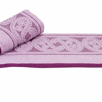 Полотенце для ванной Hobby Home Collection HURREM хлопковая махра лиловый