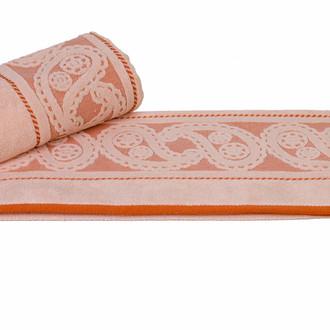 Полотенце для ванной Hobby Home Collection HURREM хлопковая махра персиковый