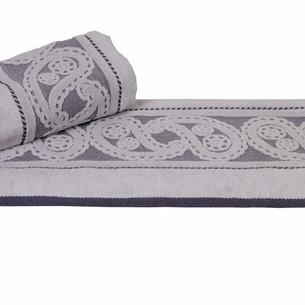 Полотенце для ванной Hobby Home Collection HURREM хлопковая махра серый 50х90