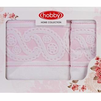 Подарочный набор полотенец для ванной 50х90, 70х140 Hobby Home Collection HURREM хлопковая махра белый