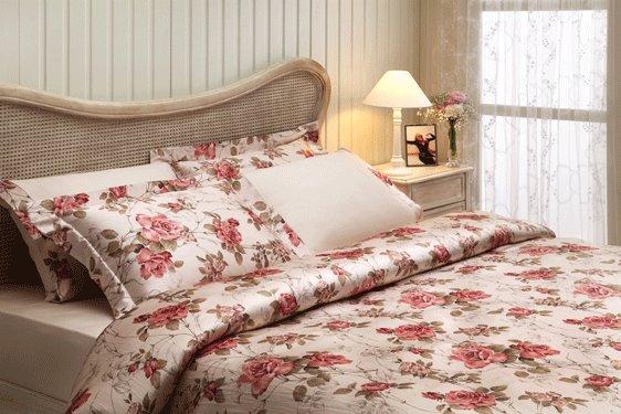 Комплект постельного белья Tivolyo Home VICTORIA сатин, жатый шёлк (бежевый) семейный, фото, фотография